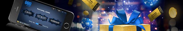 888 Poker Welcome and No Deposit Bonus
